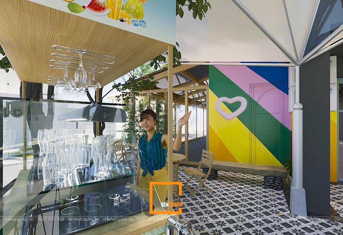 thiết kế quán nước uống Twins