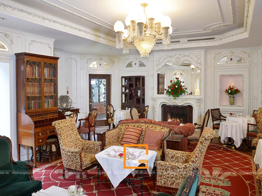 thiết kế quán trà Anh Quốc