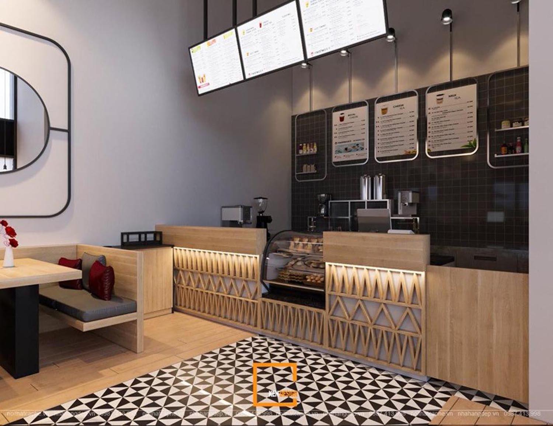 thiết kế quán trà sữa