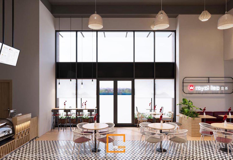 Thiết kế quán trà sữa Royal Tea