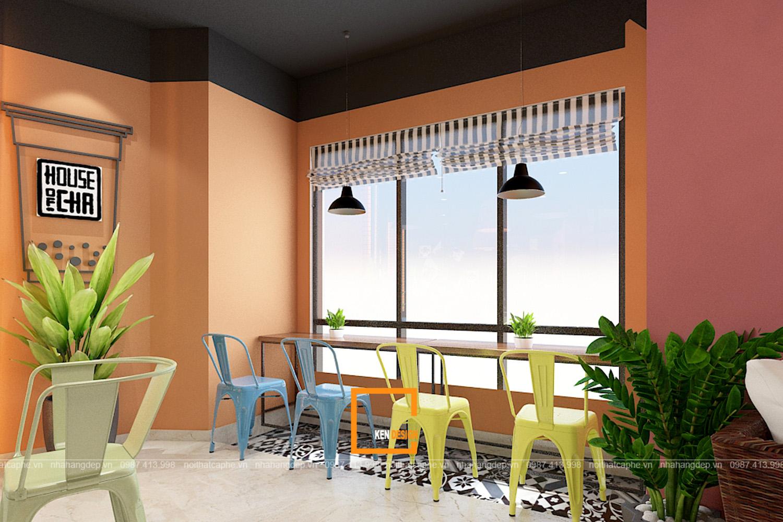 Thiết kế quán trà sữa House of Cha