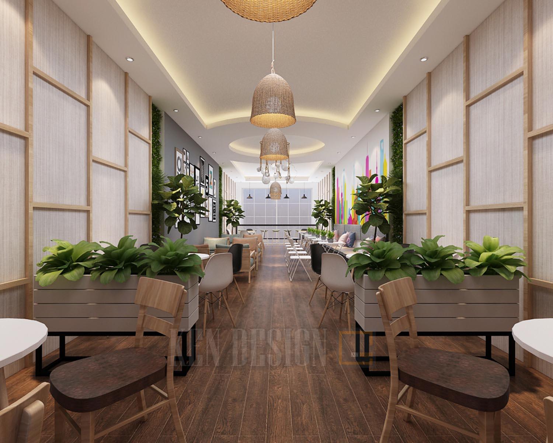 Thiết kế quán trà sữa Long Tea