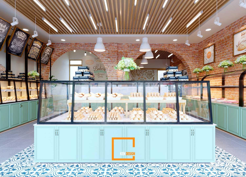 Thiết kế cửa hàng bánh ngọt Sachi