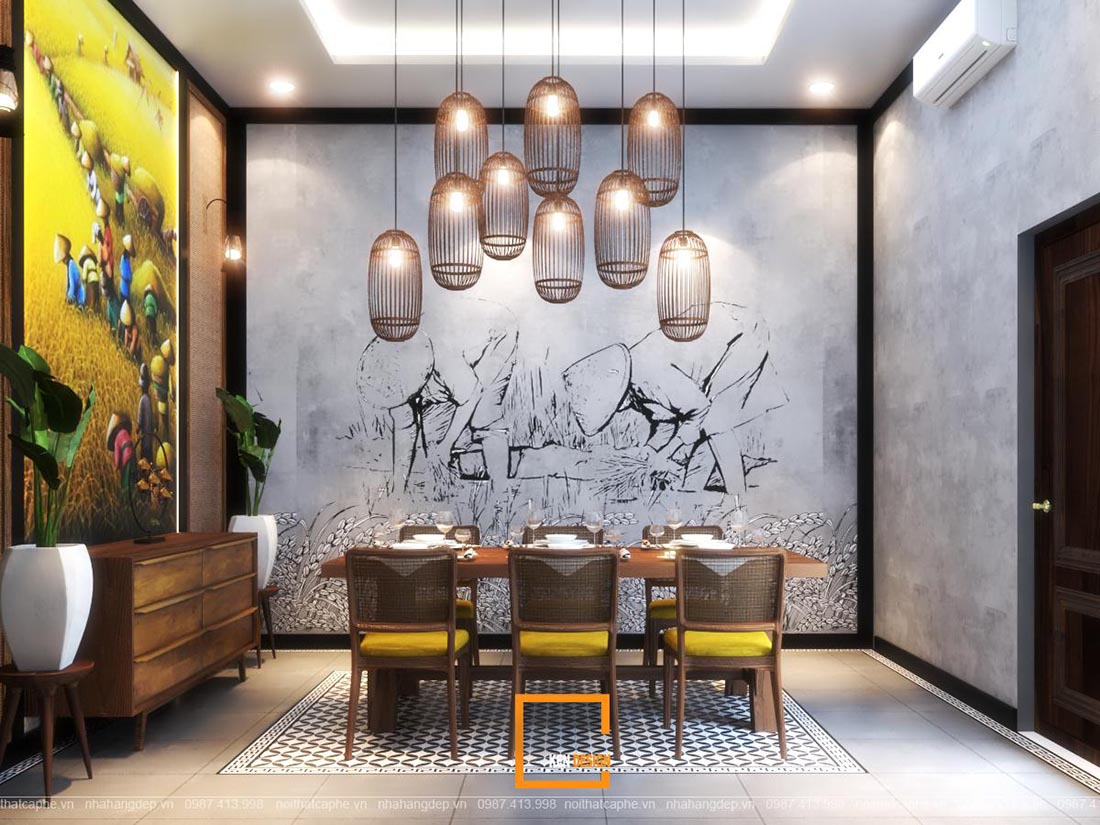 thiết kế nhà hàng đồng quê tại Hà Nội