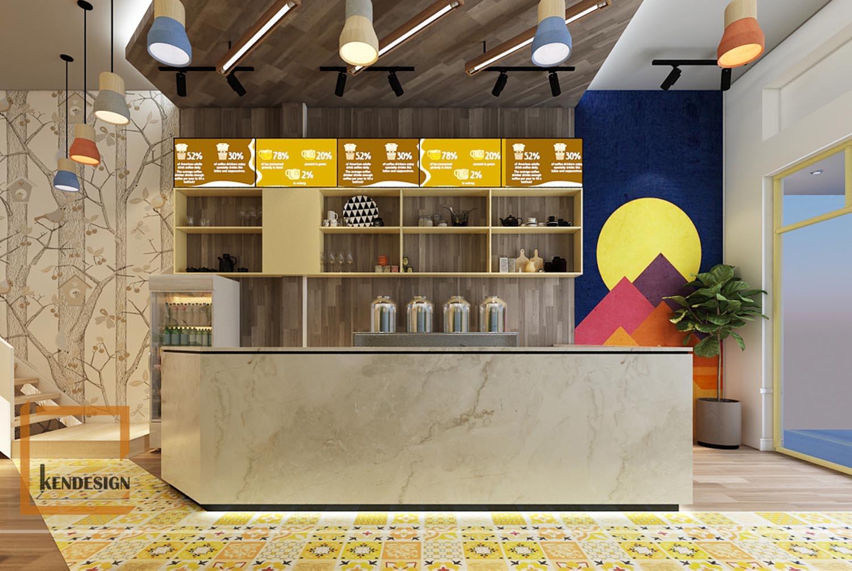 Thiết kế quán trà sữa Yellow Tea
