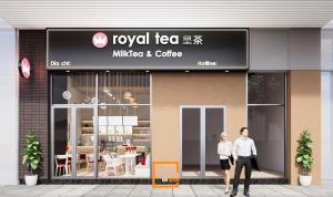 Thiết kế quán trà sữa Royal Tea - tân binh tại Bình Thạnh